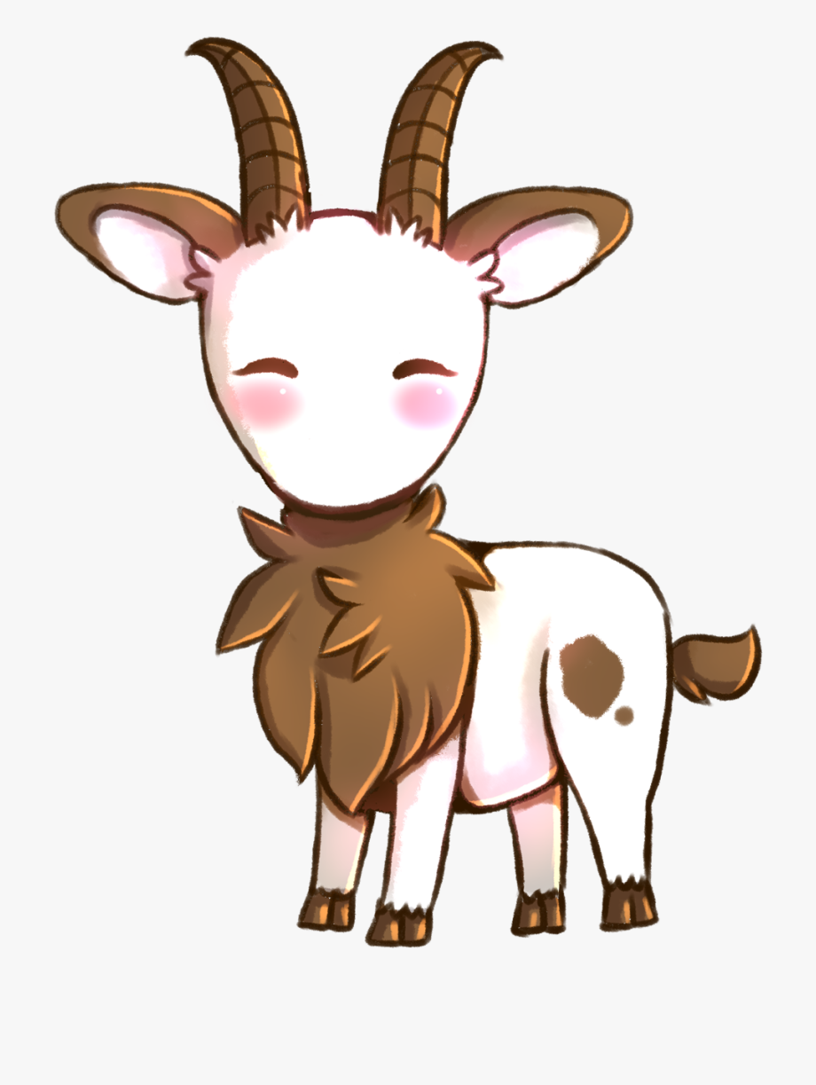 Goat clipart cute anime. A little drawing chibi