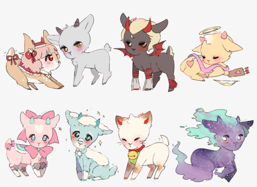 Png image . Goat clipart cute anime