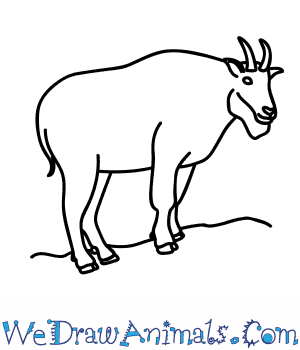 How to a mountain. Goat clipart easy draw