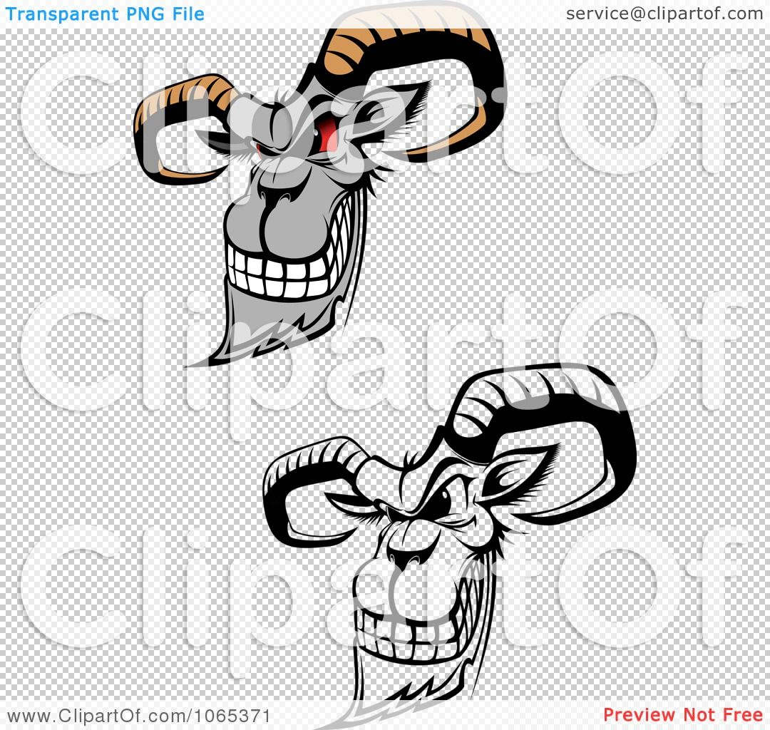 Goats royalty free vector. Goat clipart evil