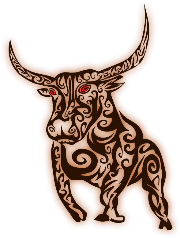 Abstract bull medium image. Longhorn clipart horns