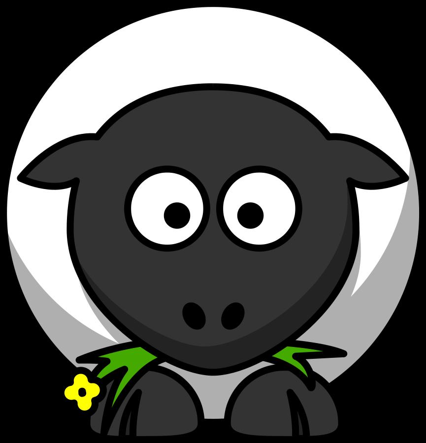 Black face sheep clipart