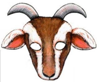 Goat clipart goat mask. Kingston s first birthday