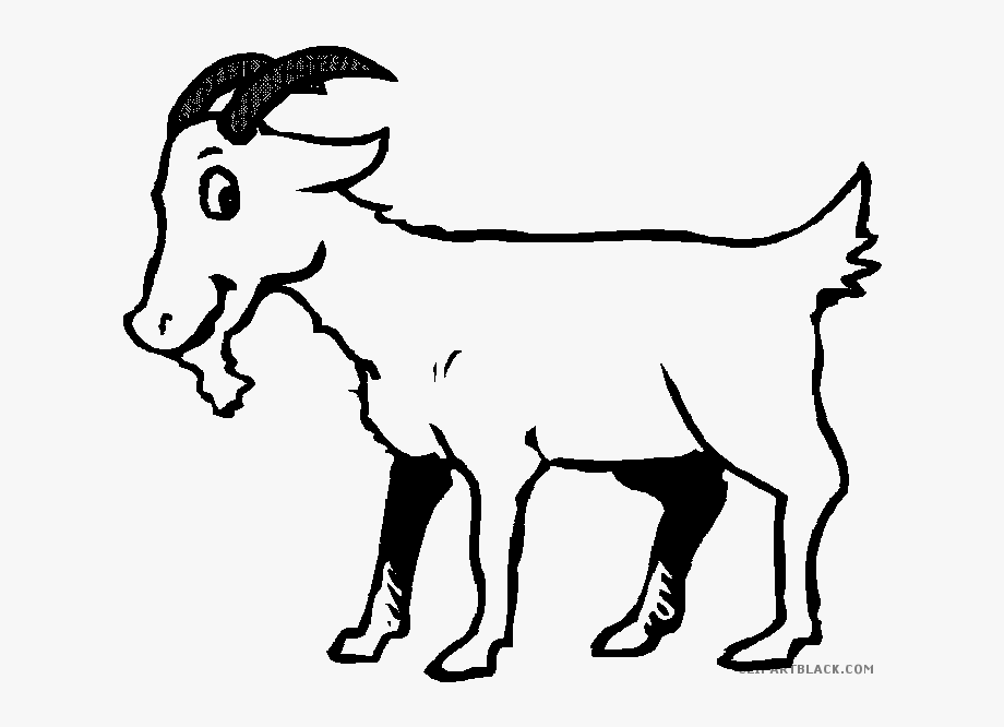 Black and white cliparts. Goat clipart goat mask