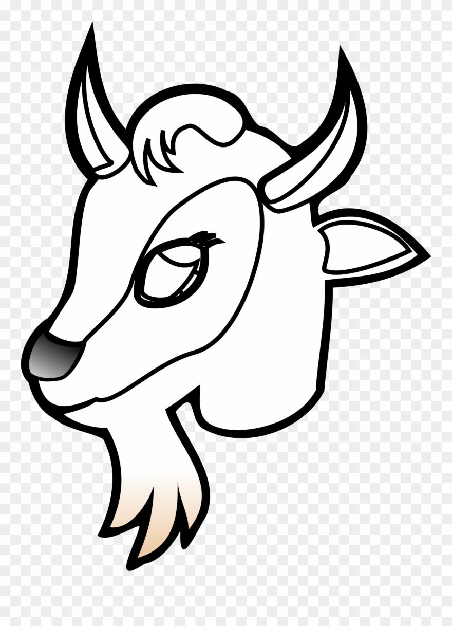 Cau lac bo bong. Goat clipart head