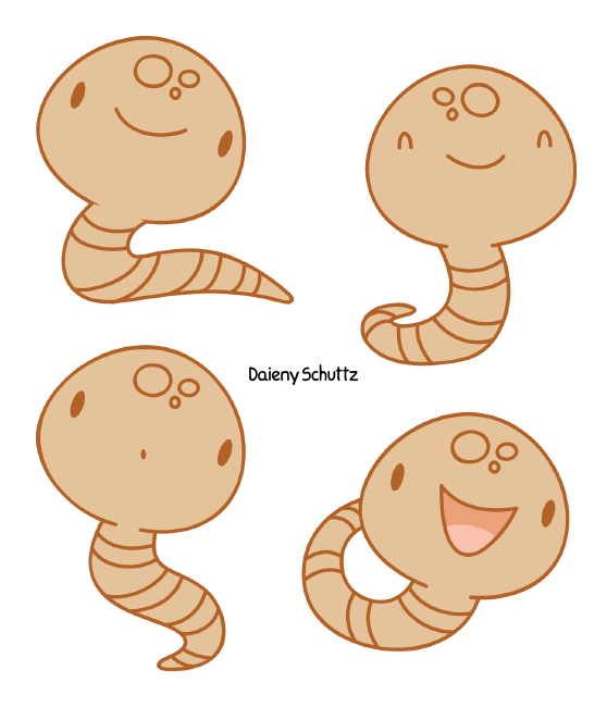 Chibi earthworm by daieny. Walrus clipart coloring page