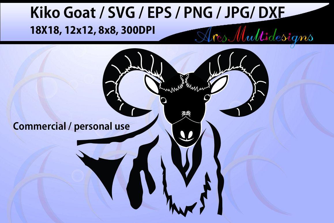 Goat clipart kiko goat. Silhouette commercial personal vinyl