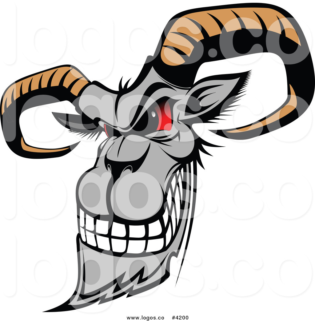 Head free download best. Goat clipart mad
