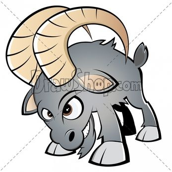 Goat clipart mad. How to draw a