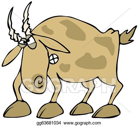 Goat clipart mad. Stock illustration angry drawing