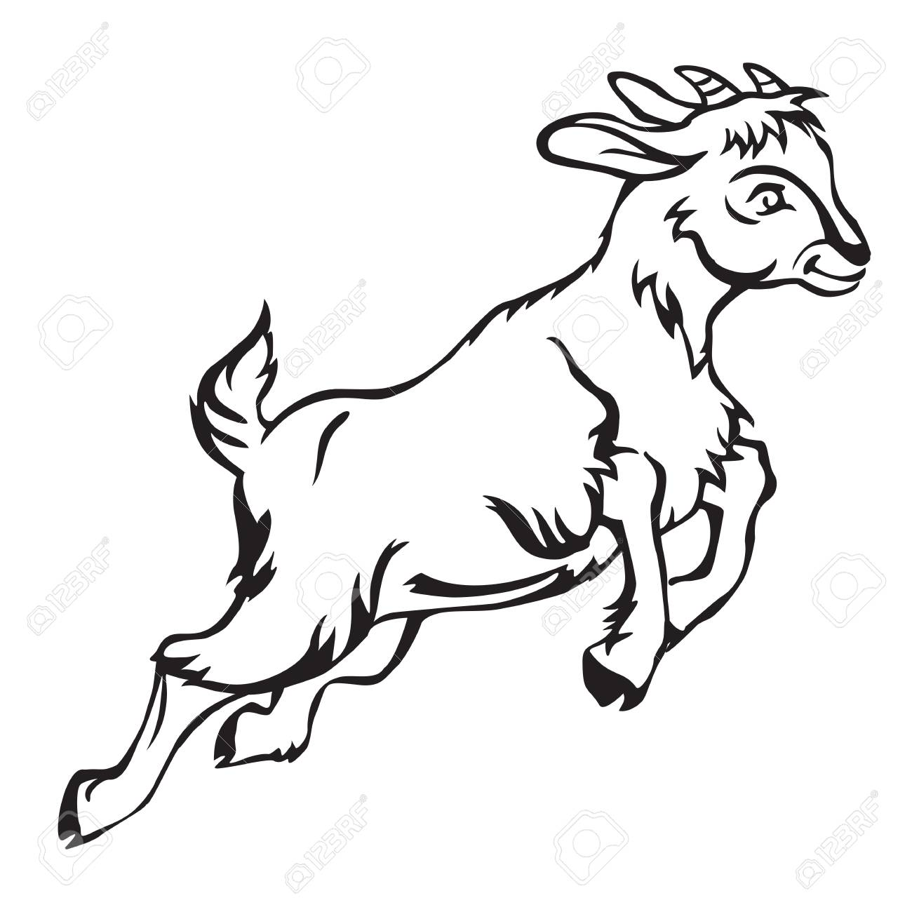 Free jumping download clip. Goat clipart madden mobile
