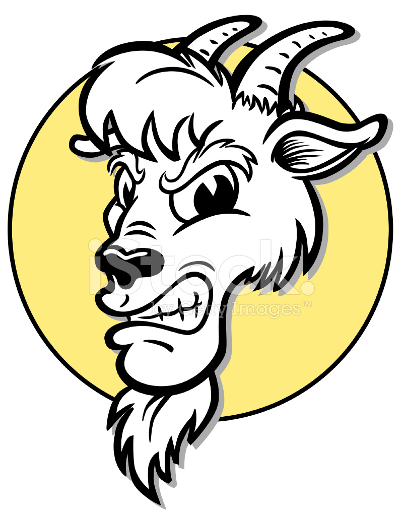 Goat clipart mascot. Angry stock vector freeimages