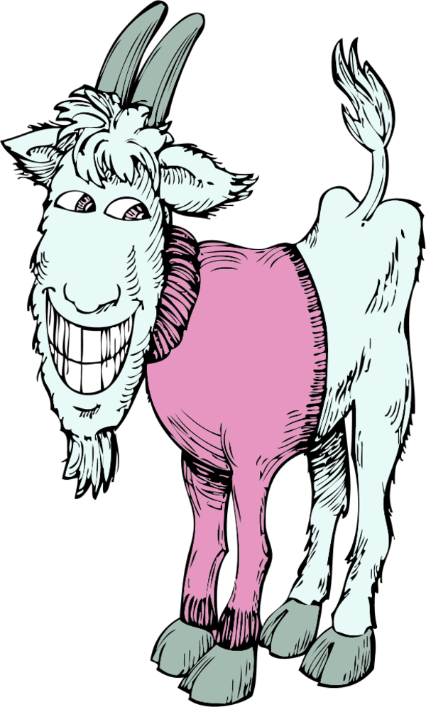 Goat clipart old goat. Tying funny