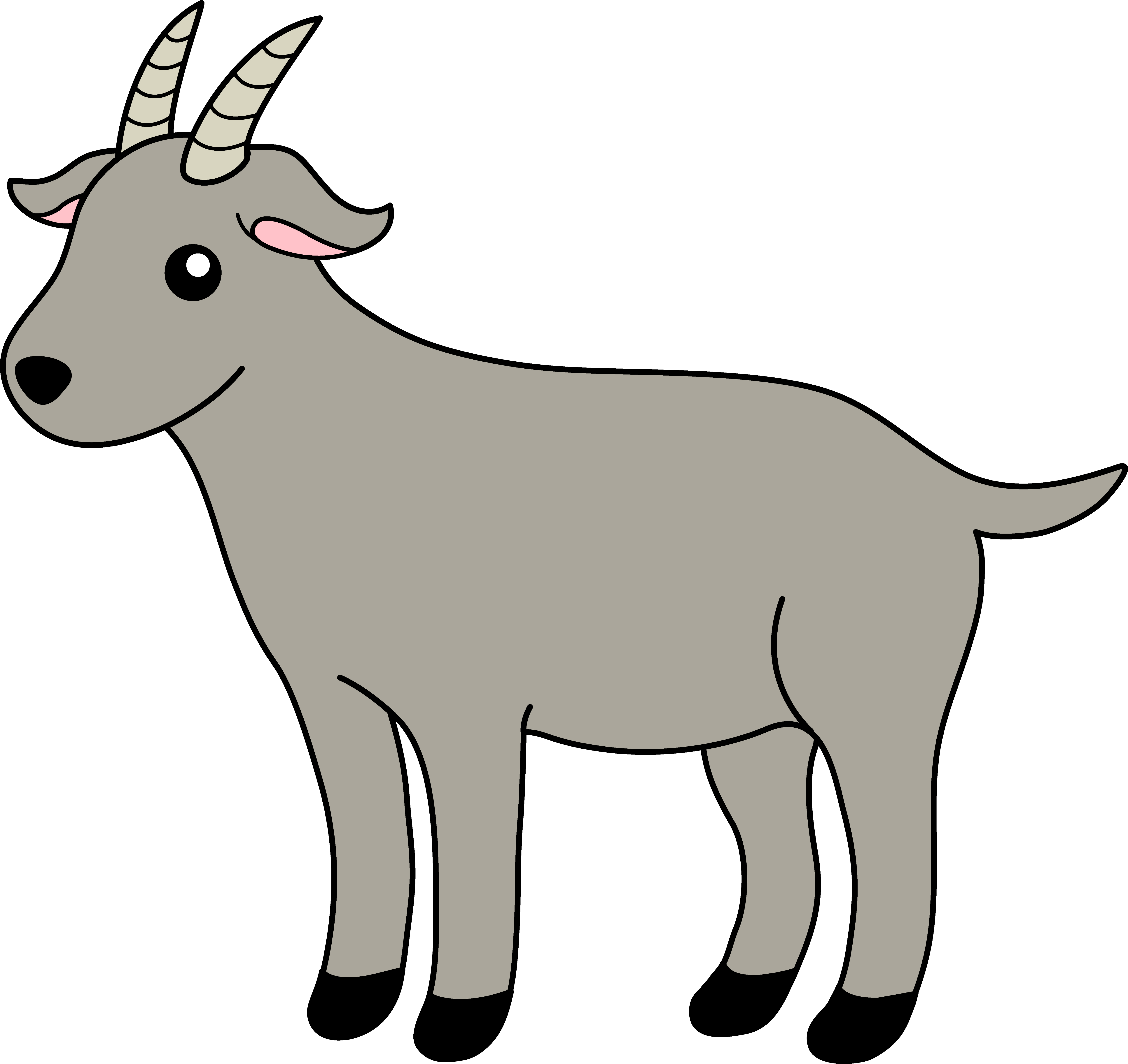 Goat clipart printable. Scared free collection download