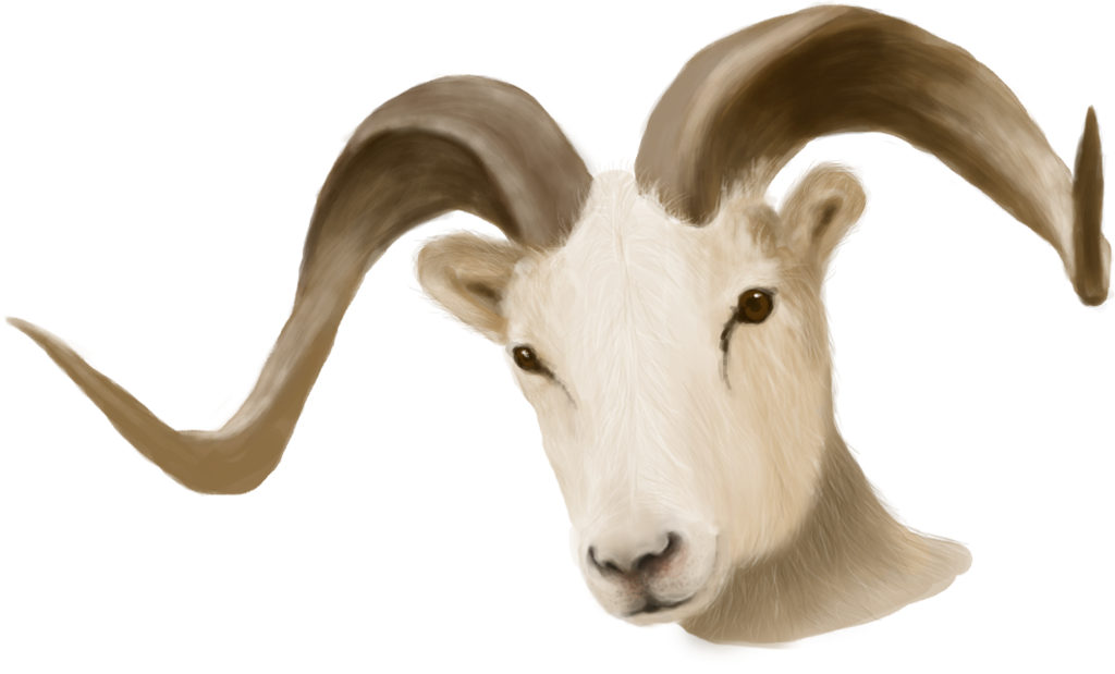 Horn clipart ram horn. Painted head unrestricted stock