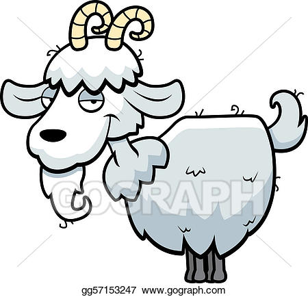 Goat clipart standing. Vector art mountain eps