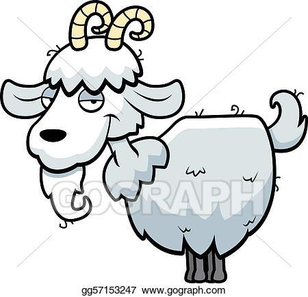 Goat clipart standing. Vector art mountain eps