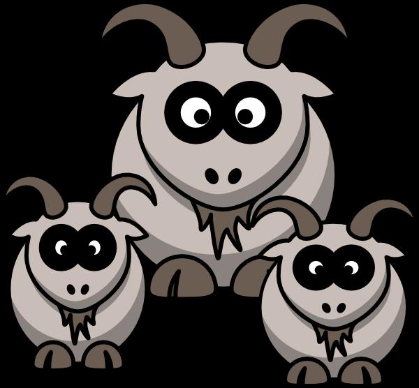 Cartoon goats clip art. Goat clipart two goat