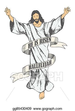 Vector art of jesus. God clipart ascension