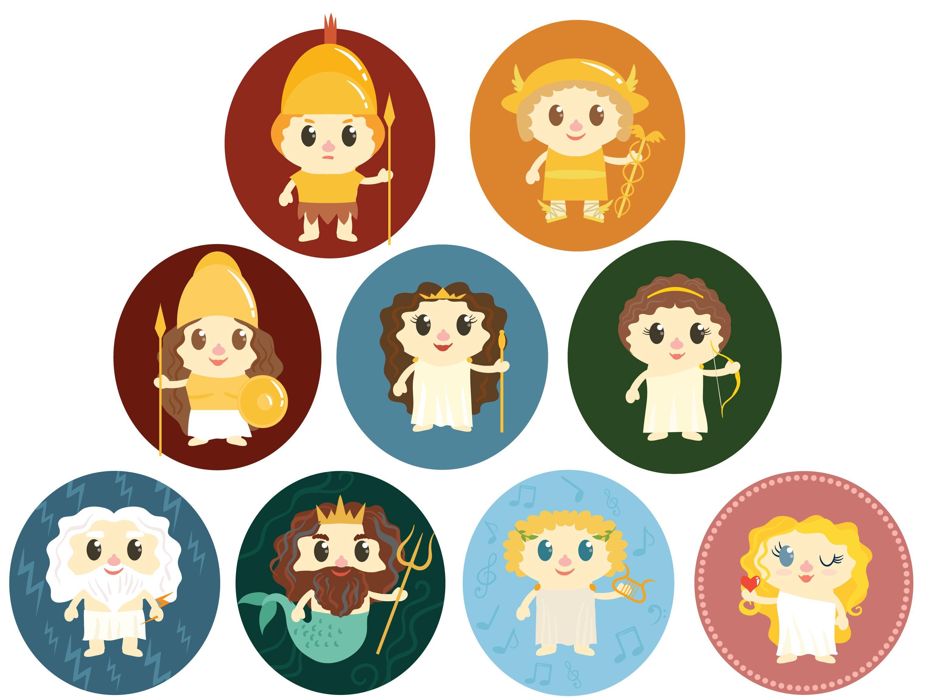 God clipart cute. Free greek gods vectors