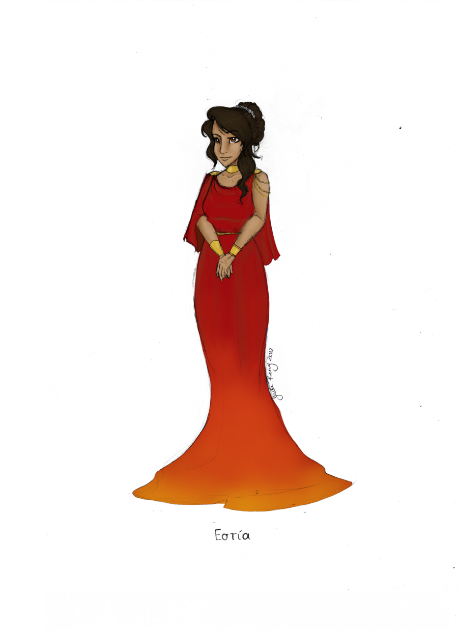 Greek goddess hestia by. God clipart gaea