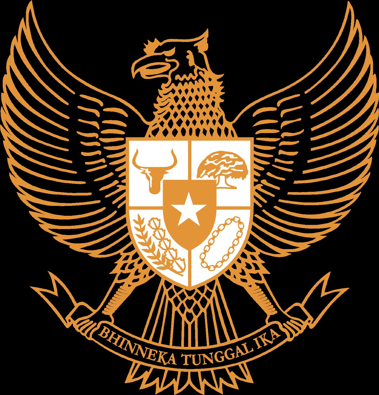 Logo pancasila gold gudang. God clipart garuda