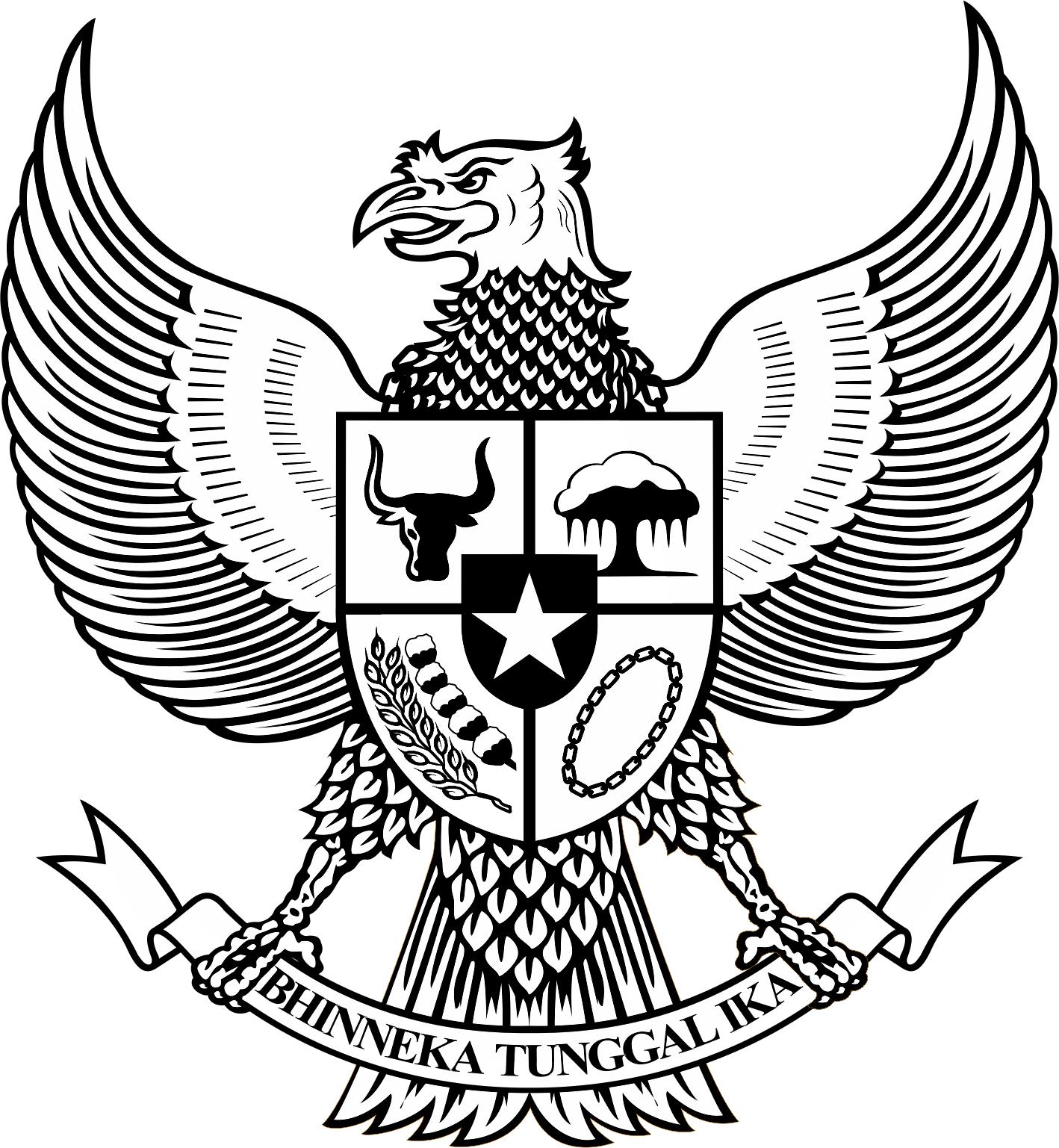 God clipart garuda. Logo pancasila bw hitam