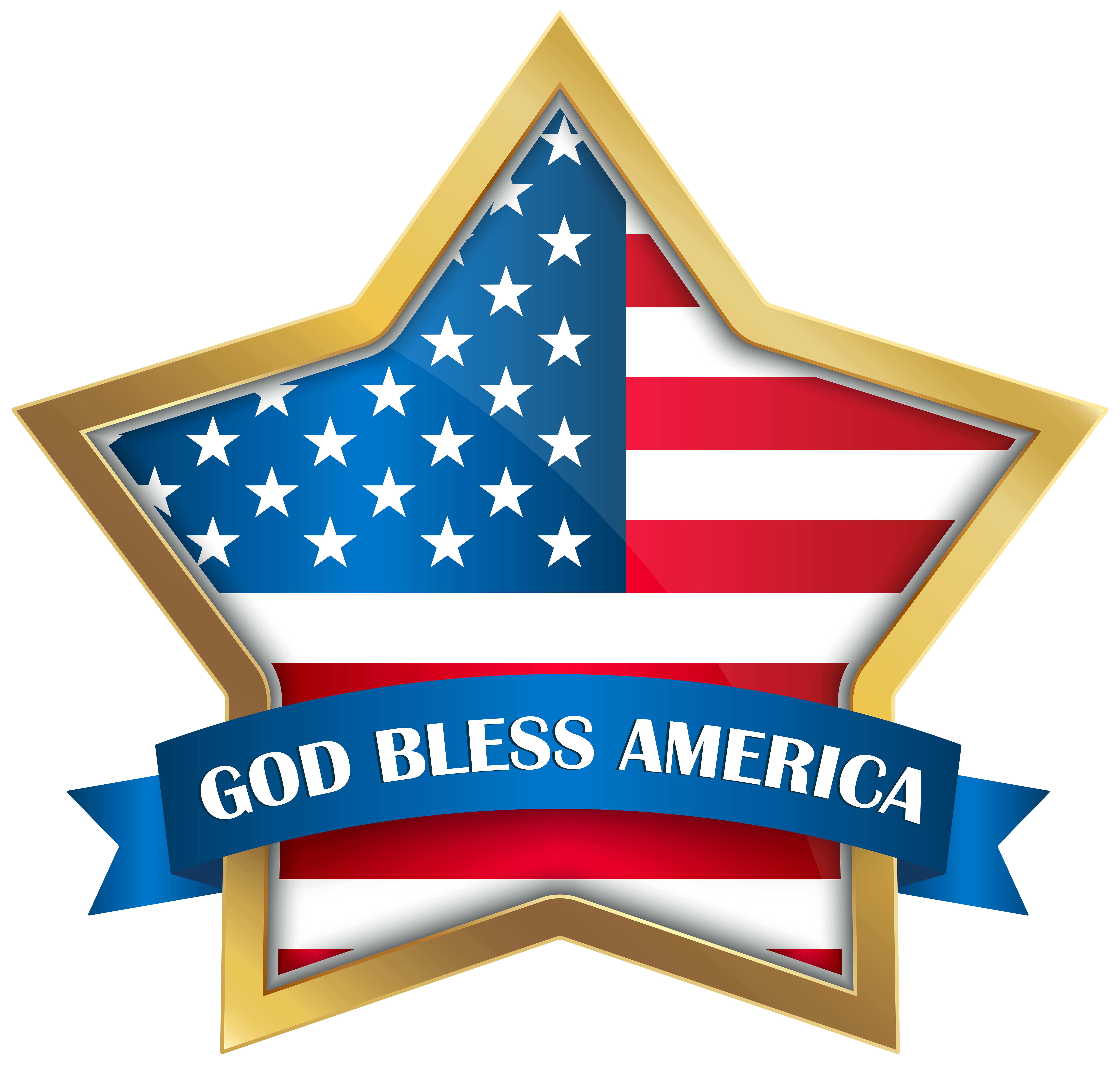 Bless america star png. God clipart god provides