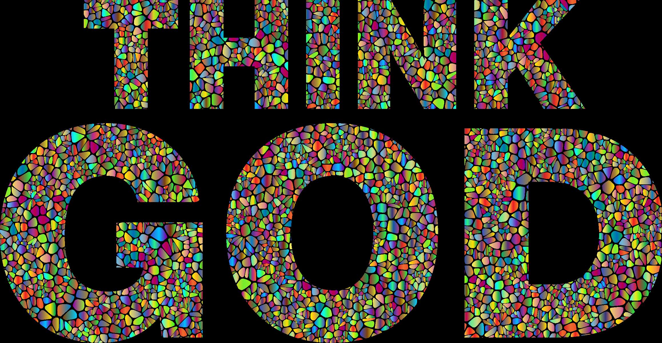Polyprismatic tiles think typography. God clipart god provides