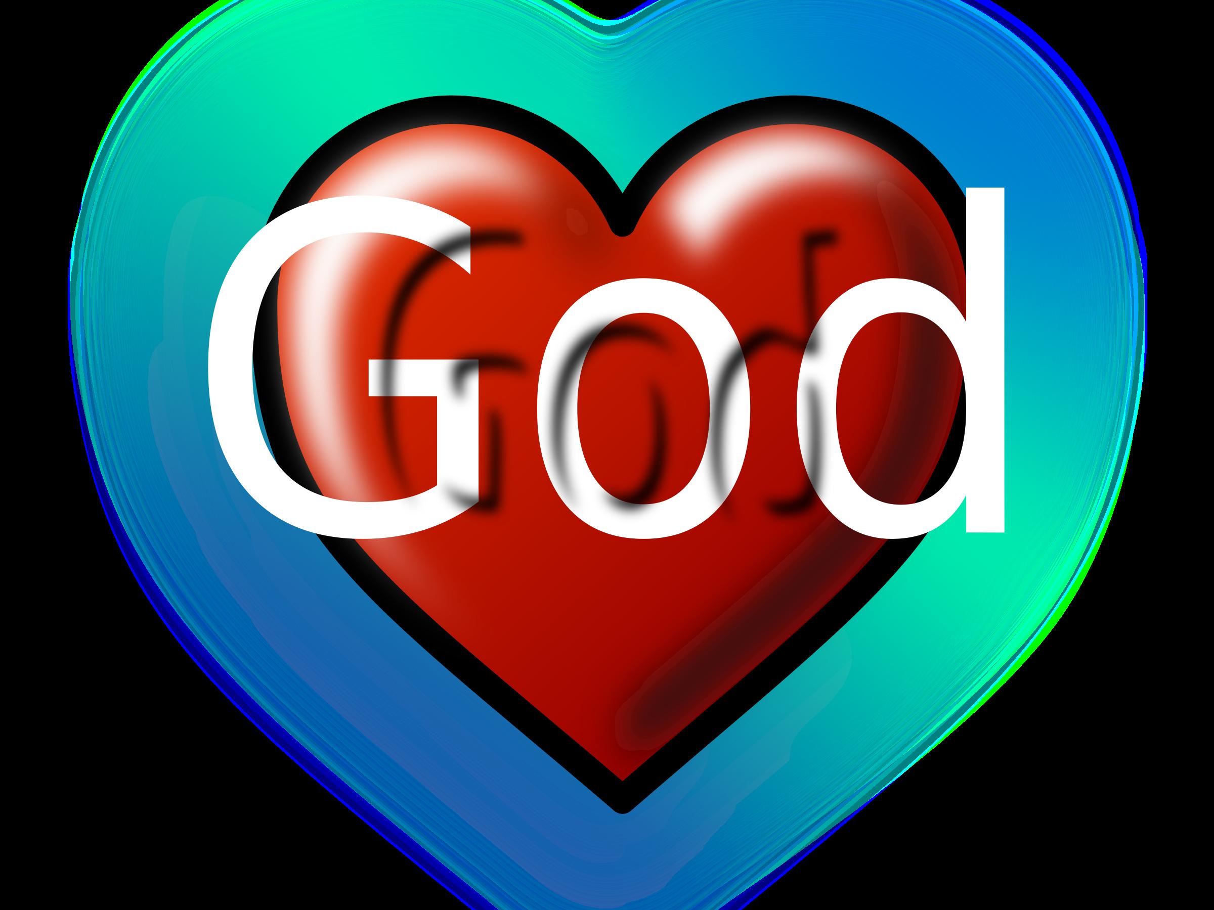 Editable text big image. God clipart heart
