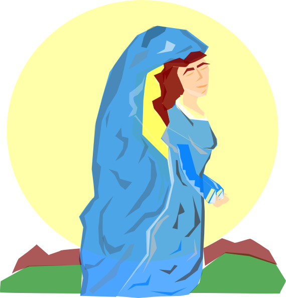 Mother clipart patient. Mary the of god