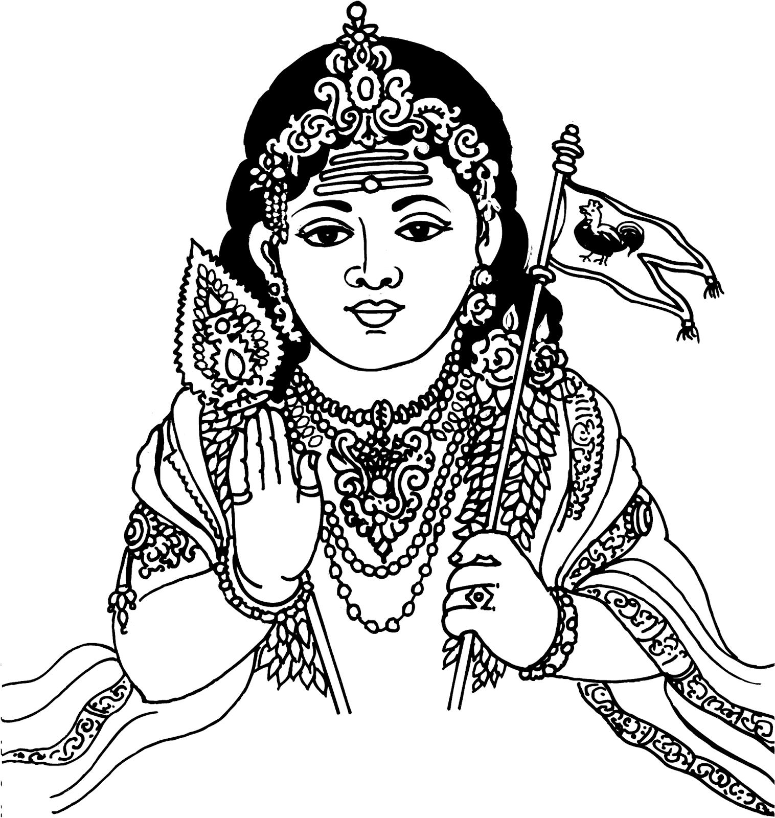 Tamil cliparts lord muruga. God clipart murugan