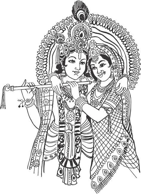 Ganesh in art . God clipart radha krishna