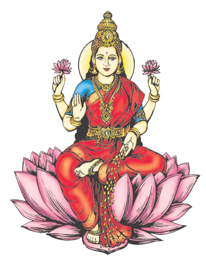 Lakshmi free png image. God clipart saraswati