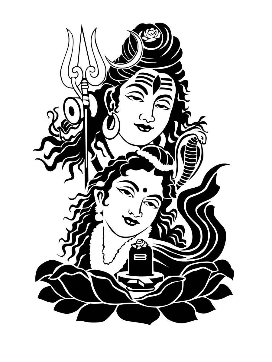 adult coloring page hindu god. hindu goddess jagadamba. coloring ... | 1200x900