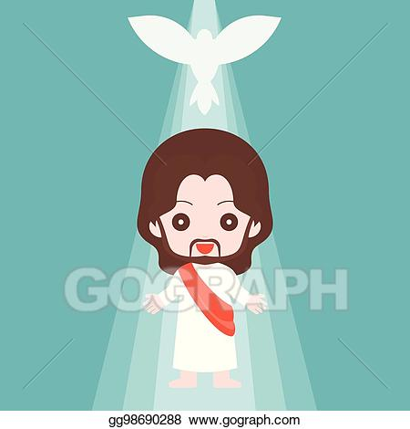God clipart son clipart. Vector illustration jesus christ
