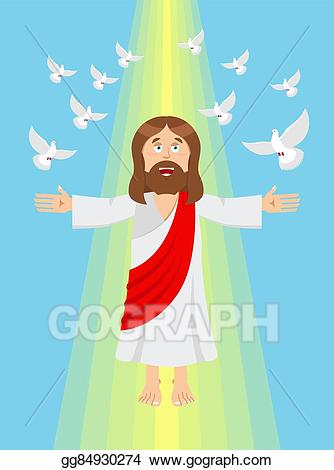 God clipart son clipart. Vector illustration jesus and