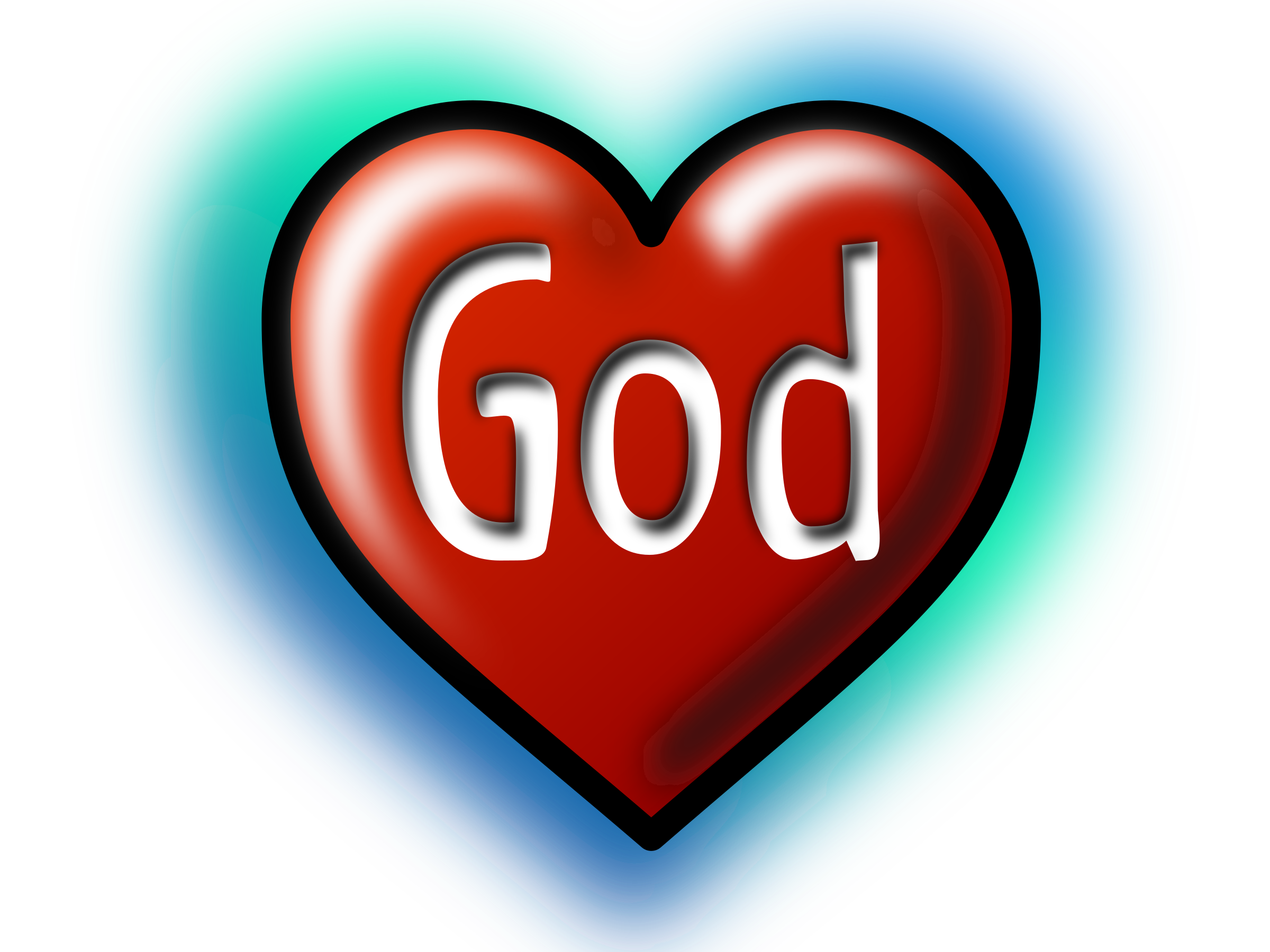 God clipart transparent. Heart text converted to