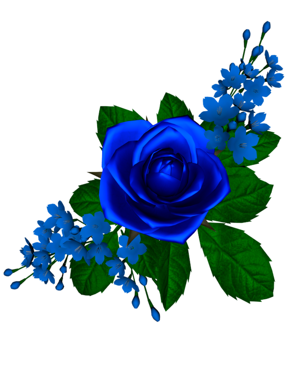 Flores azul em desenho. God clipart venkatesh