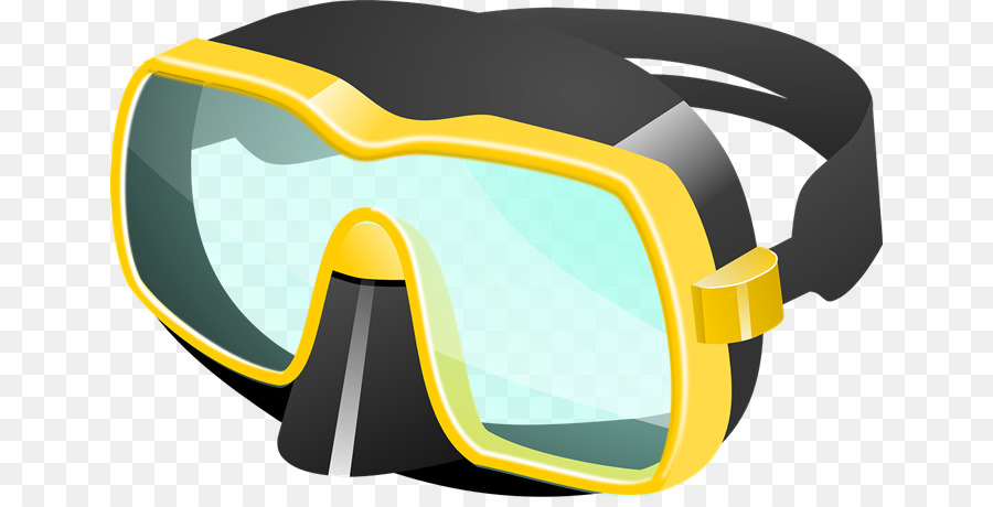 Glasses diving mask clip. Goggles clipart