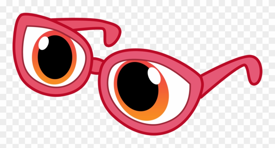 Glasses with eyes clip. Goggles clipart cartoon