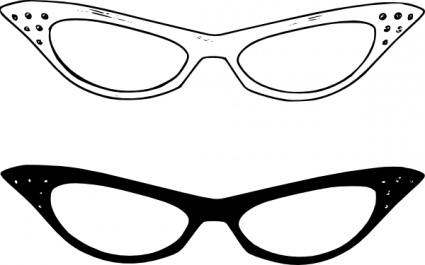 Free women glasses cliparts. Sunglasses clipart fancy