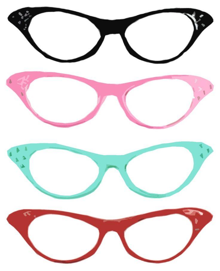 Free women glasses cliparts. Goggles clipart female glass