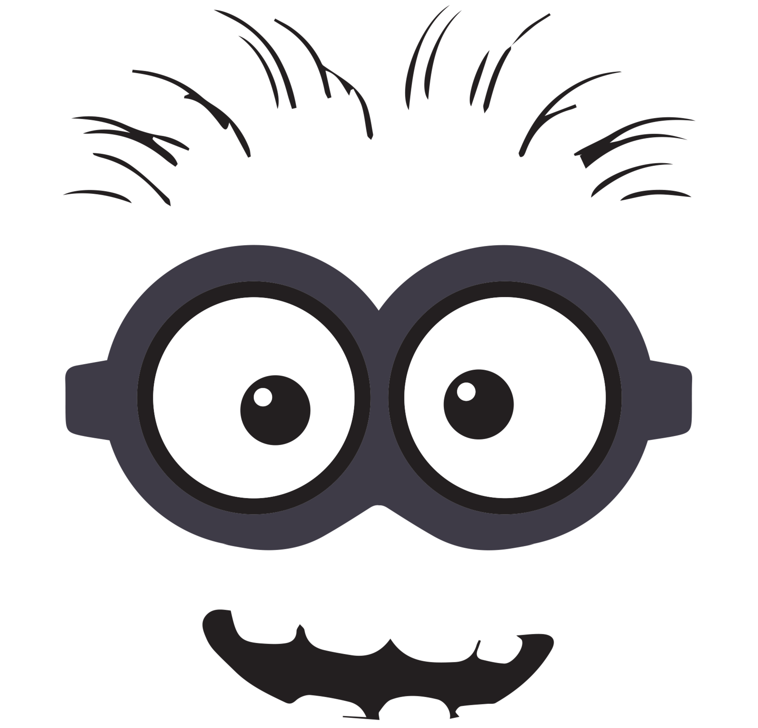 Goggles clipart outline. Minion gallery by robin