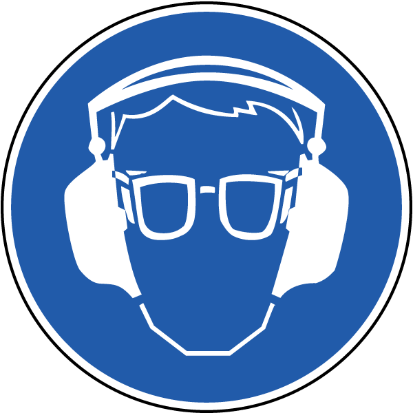 Wear eye and ear. Medical clipart ppe
