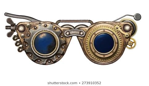 Goggles portal . Steampunk clipart goggle