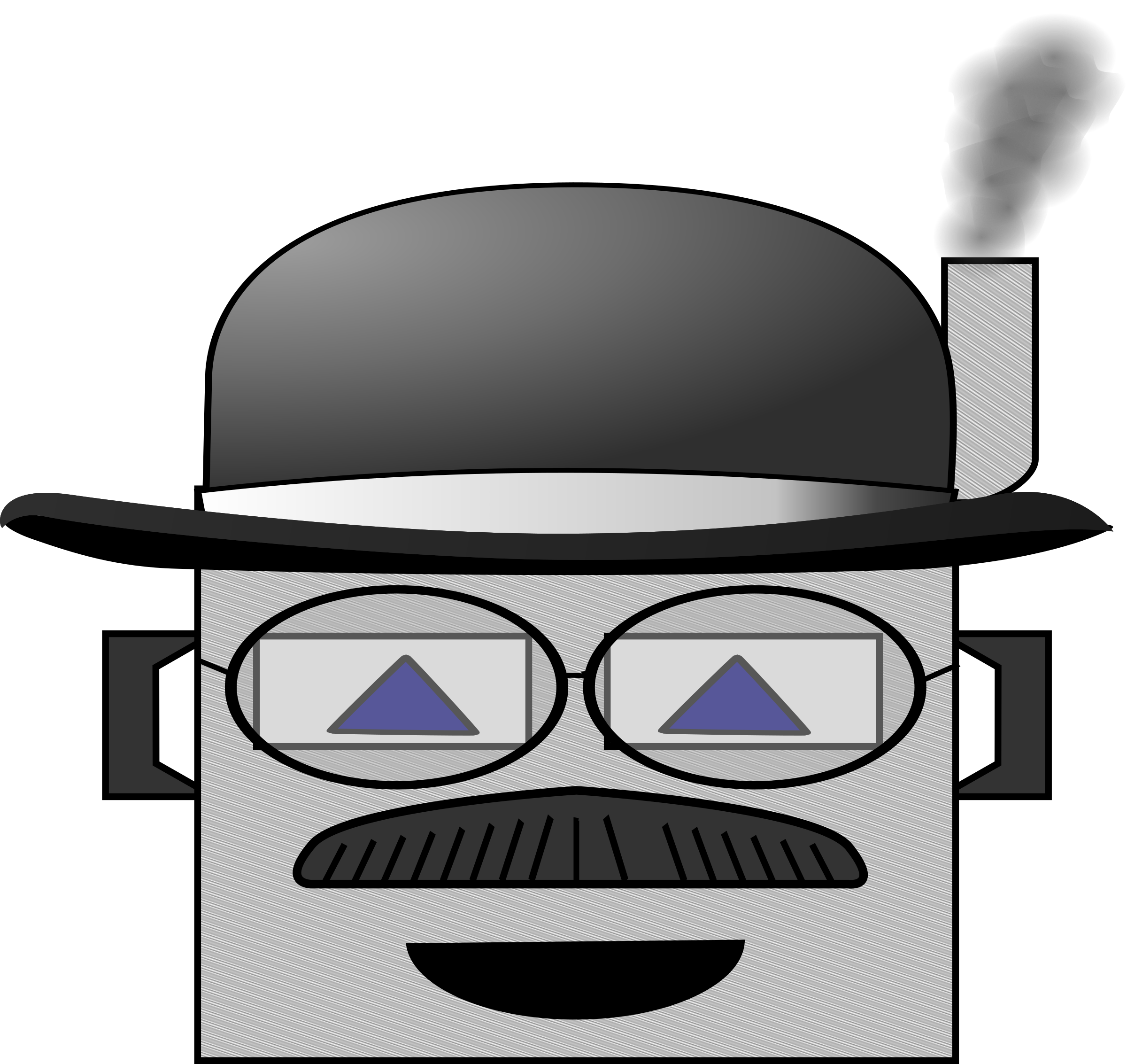 Goggles clipart steampunk. Automatic man big image
