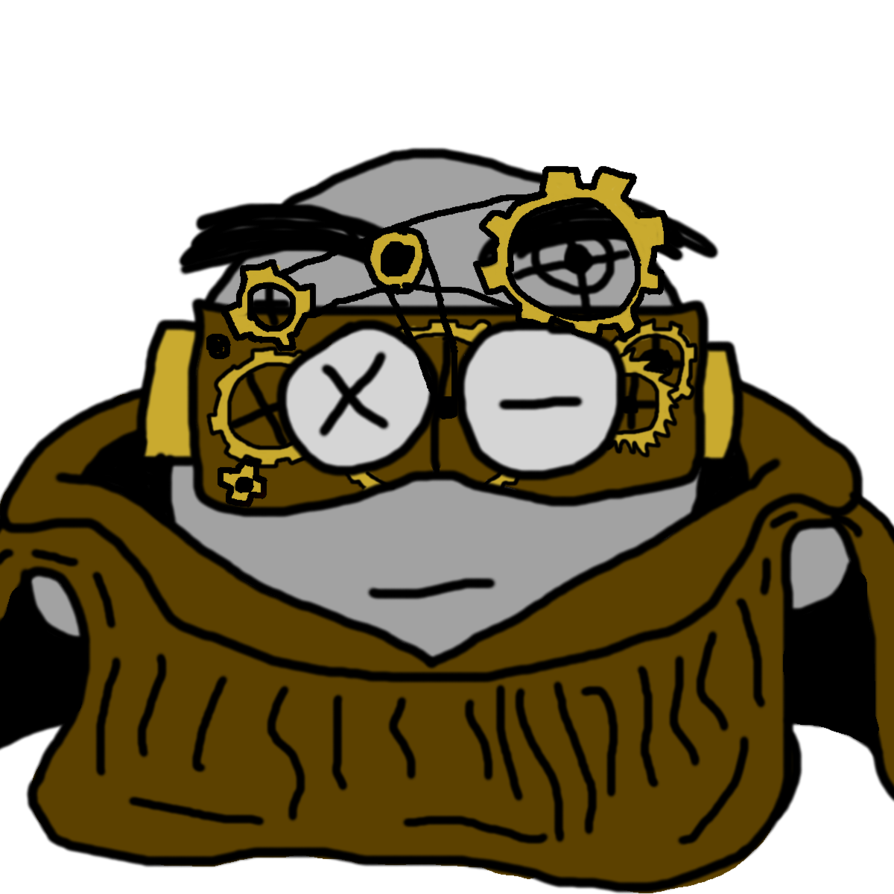 Goggles clipart steampunk. Bolteye the ranger by