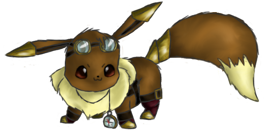 Steampunk clipart goggle. Ichabod the eevee by
