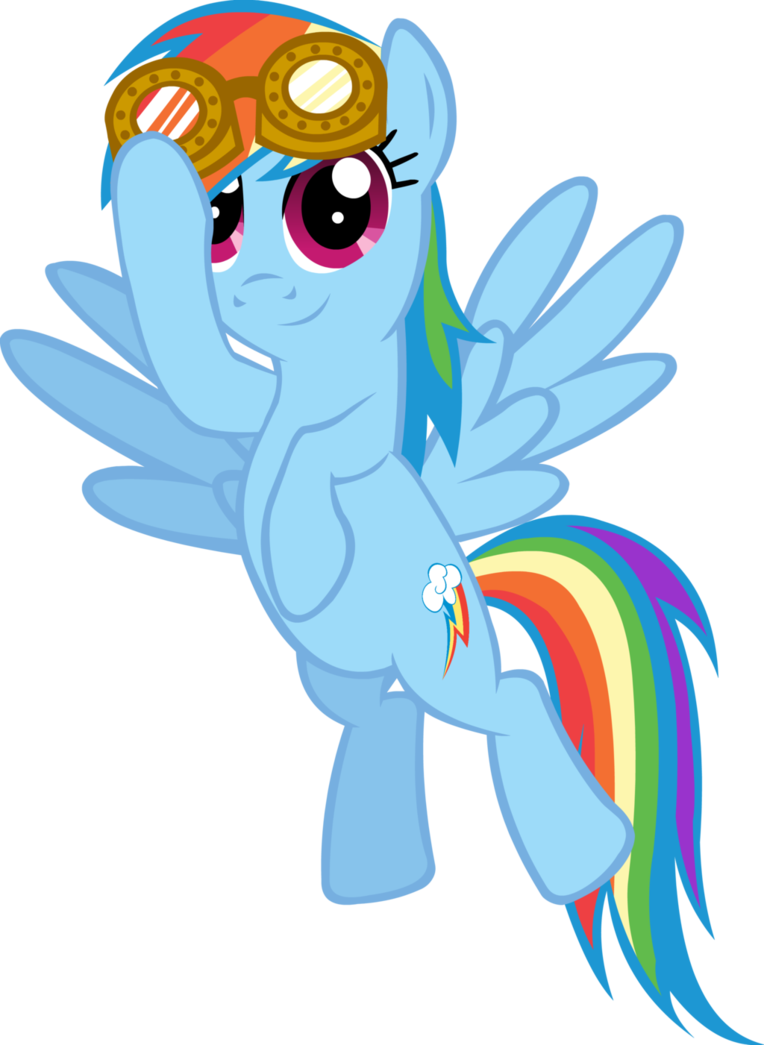 Wing clipart steampunk. Rainbow dash goggles by